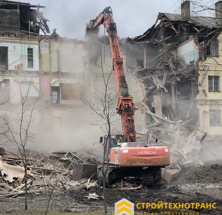 экскаватор разрушитель аренда в Москве